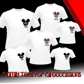 Personalize Disney Family Vacation Shirts, perfect for Disney World or Disneyland. pick your Shirt Color and Vinyl Color