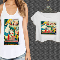 Vintage Disney Posters Alice In Wonderland For Woman Tank Top , Man Tank Top / Crop Shirt, Sexy Shirt,Cropped Shirt,Crop Tshirt Women,Crop Shirt Women S, M, L, XL, 2XL**
