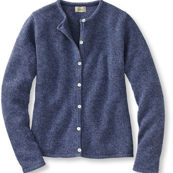 Marled Cotton Sweater, Button-Front Cardigan: Cardigans | Free Shipping at L.L.Bean