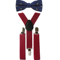 Little Man Suspenders and Bow Tie Gift Set