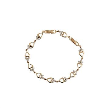 Hollow Heart Style Gold Plated Bracelet