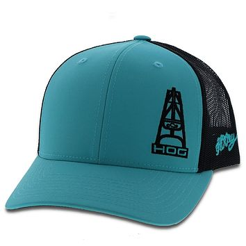 HOOEY OIL GEAR TURQUOISE AND BLACK  HOG 3020T-TQBK NEW