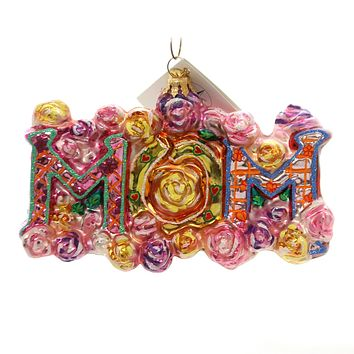 Christopher Radko Best Mom Glass Ornament 0101370