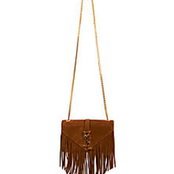 Saint Laurent - Saint Laurent Monogramme Small Suede Fringe Crossbody Bag - Saks Fifth Avenue Mobile