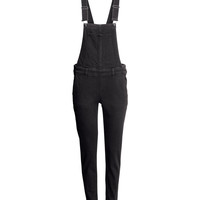 H&M - Bib Overalls - Black - Ladies