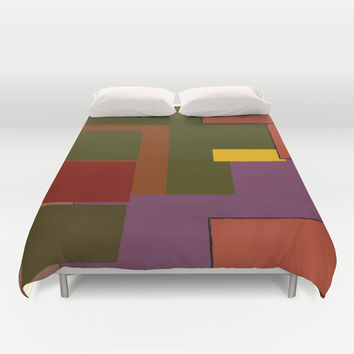 Stacked Duvet Cover by Texnotropio