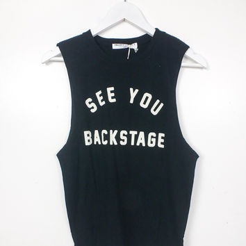 See You Backstage Tank