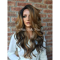 Kirsten Multi blonde lace front hair wig 22""