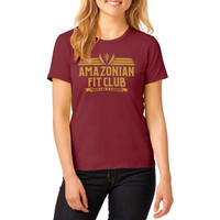 "Wonder Woman Justice League Inspired -""Amazonian Fit Club"" T-Shirt maroon"