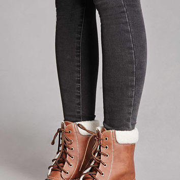 Yoki Faux Leather Duck Boots