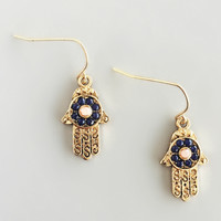 Intricaste Dainty Hamsa Earrings