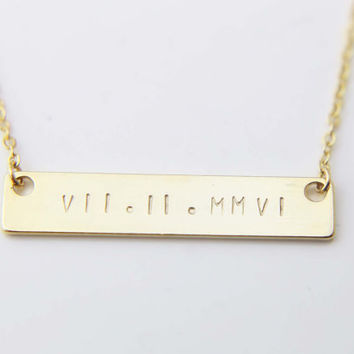 date custom wife groom best find deals gold on for the necklace ideas from roman gift bar wedding bride numeral