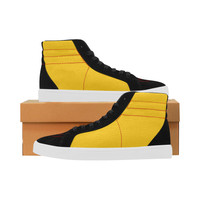 yellow & black Capricorn High Top Casual Shoes for Women (Model 037) | ID: D2693628