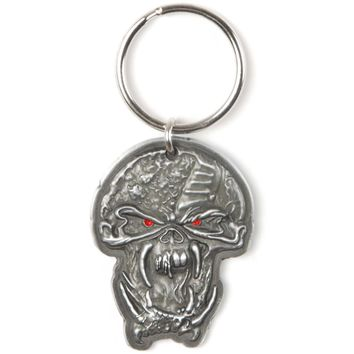 Iron Maiden The Final Frontier Face Metal Key Chain Silver