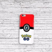 Pokemon Go Pokeball iPhone 4 5 5c 6 6s and Samsung Galaxy S4 S5 S6 Case