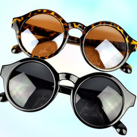 Trendy Retro Round Frame Sunglasses