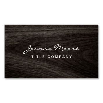 Classy dark oak wood grain professional profile Double-Sided standard business cards (Pack of 100)