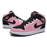 kaat Air Jordan 1 Retro I Black/Pink Basketball Shoes