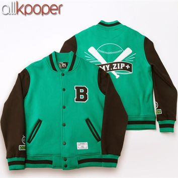 ALLKPOPER Kpop BTS Baseball Jacket Casual Coat Jackets FM ARMY.ZIP+ Varsity Bangtan Boys Baseball Jackets Women Men Tracksuits