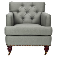 Margot Club Chair, Gray
