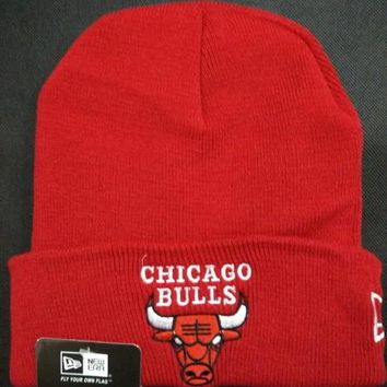Chicago bulls Women Men Embroidery Beanies Knit Hat Cap-7