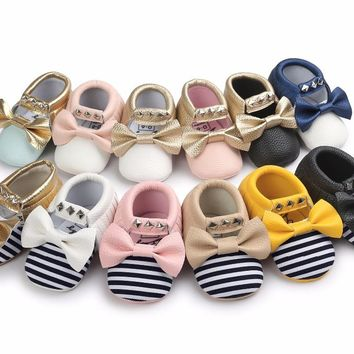 All Dolled Up moccasins for baby