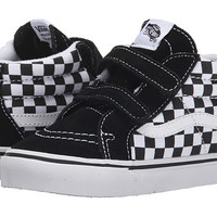 Vans Kids Sk8-Mid Reissue V (Toddler) (Checkerboard) Black/True White - Zappos.com Free Shipping BOTH Ways