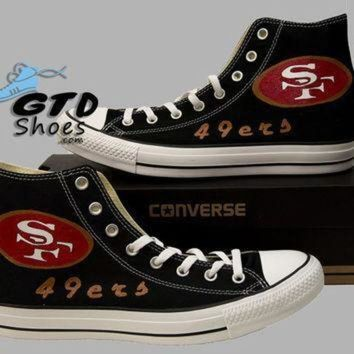 DCCK1IN hand painted converse san francisco 49ers 49 ers football sports handpainted sho