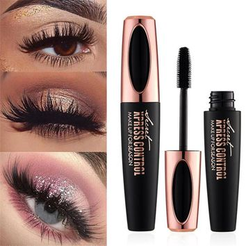 Makeup Eyelash Mascara Eye Lashes makeup 4d silk fiber lash mascara Drop