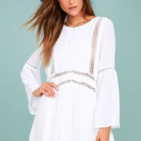 Amuse Society Kensington White Lace Dress