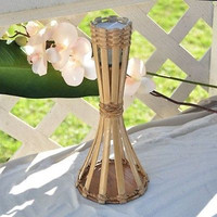 Luau Bamboo Torch Tabletop Decoration Candlelit Hawaiian Beach Party 1FT
