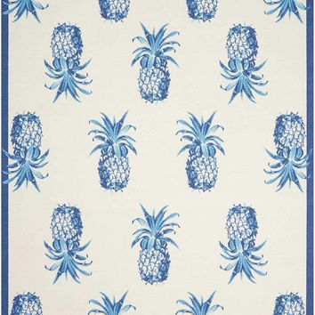 Waverly Sun & Shade Pineapple Grove Ivory Indoor/Outdoor Area Rug by Nourison