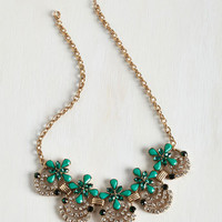 Statement Hit the Town Stunning Necklace in Jade by ModCloth