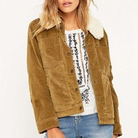 Free People Corduroy Sherpa Jacket - Urban Outfitters