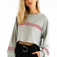 Off To The Races Long Sleeve Top in Gray