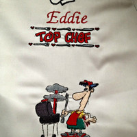 Personalized BBQ Apron for the Grill Master of the House