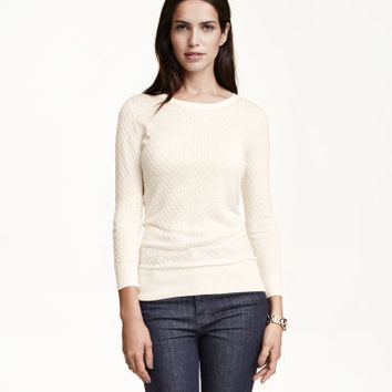 H&M Textured-knit Sweater $24.99