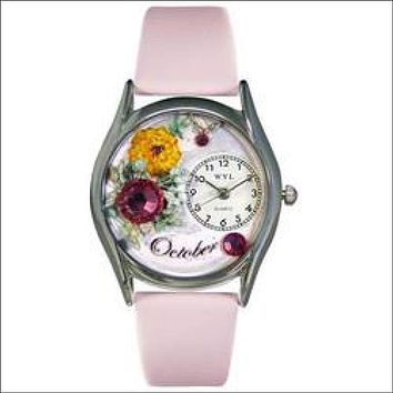 Birthstone Jewelry: October Birthstone Watch Small Silver Style
