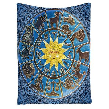 Gypsy wall  tapestry sun Divination Twelve constellations printing tapestry large wall hanging tapestry
