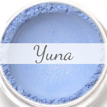 "Eyeshadow Sample - ""Yuna"" - frosty light powder blue/baby blue with shimmer (Vegan) Mineral Makeup Eye Color Pigment"