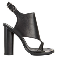Barbara Bui Covered Vamp Sandal: Black at INTERMIX | Shop Now | Shop IntermixOnline.com
