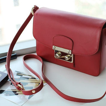Free Shipping - Madras Mini Bag (Red Color) - New Arrival It's bag
