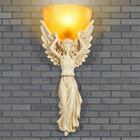 Retro Wall Light Living Room/Bedroom/Bedside Angel Wall LampOriginality Restaurant Bar Resin Wall Lights Stair Light
