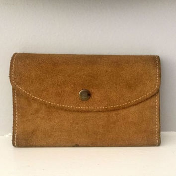 Vintage Handcrafted Suede Leather Full Size Wallet