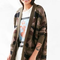 BDG Camo Parker Cardigan - Urban Outfitters