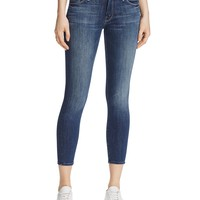 MOTHERThe Looker Crop Skinny Jeans in Here Kitty Kitty