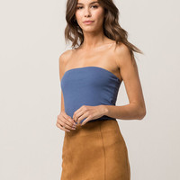 BOZZOLO Blue Womens Tube Top