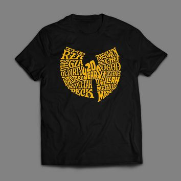 HIP HOP'S WU-TANG CLAN LOGO ART T-SHIRT