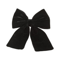 Velvet Hair Bow - Black