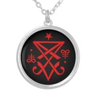 Occult Sigil of Lucifer Necklace / Pendant. Satanic jewelry. Jewellery satanism goth black magic pagan satanic cross.
